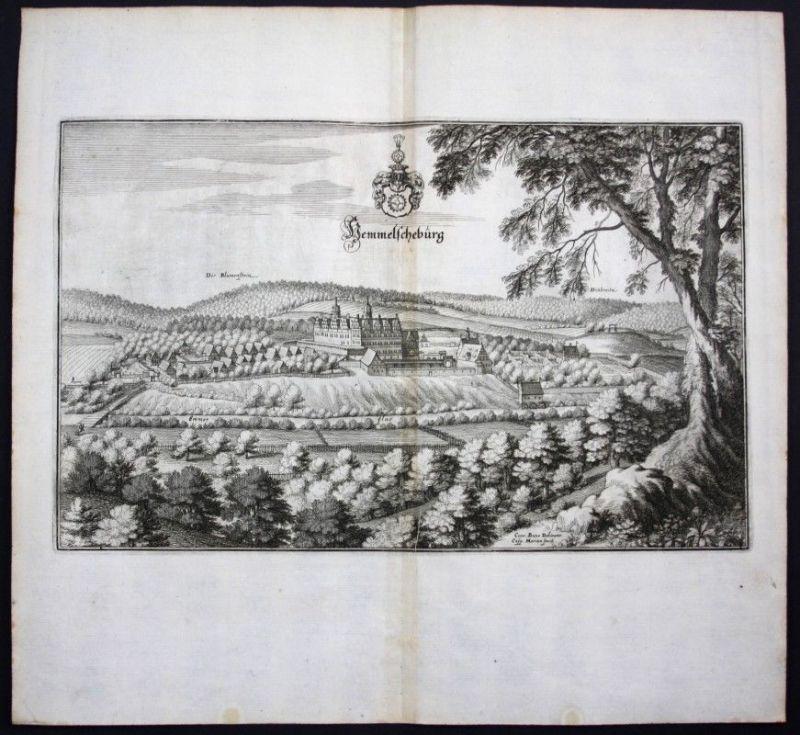 Hämelschenburg / Emmerthal / Weserbergland - Karte Kupferstich Merian Merian:
