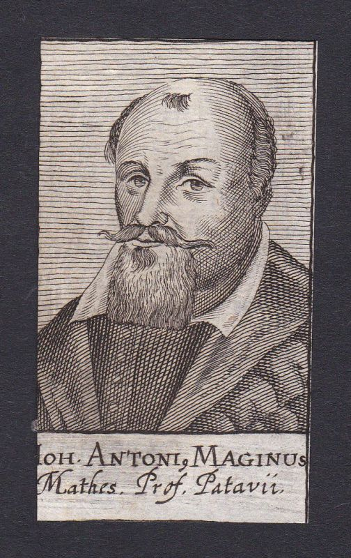 17. Jh. Johann Antonius Maginus professor Professor Padova Portrait Kupferstich