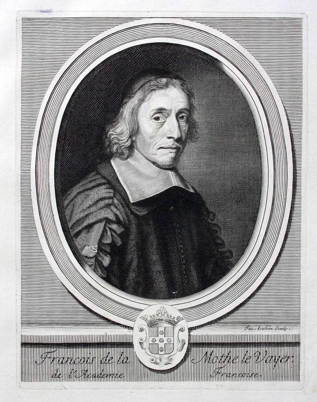 Francois de La Mothe Le Vayer Philosoph philosopher philosophe Portrait ca. 1700