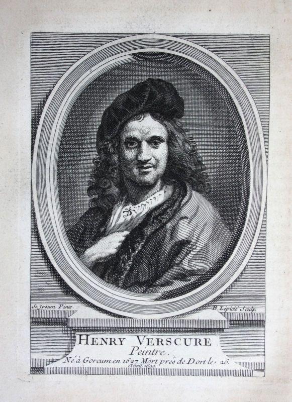 18. Jh. Hendrik Verschuring painter Maler peintre Kupferstich Portrait engraving