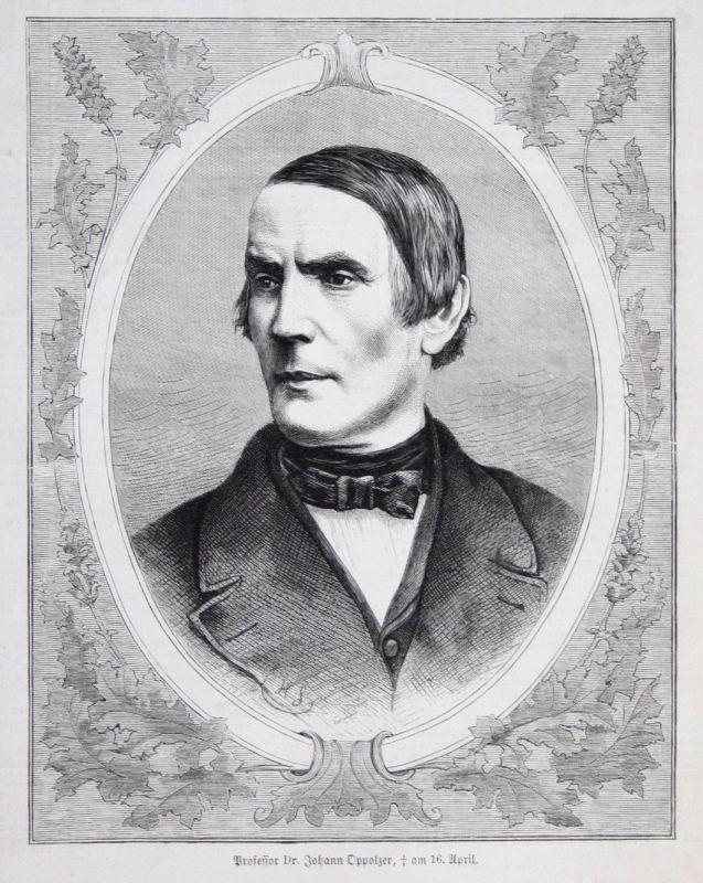 1871 Professor Dr. Johann Oppolzer Gratzen Böhmen Wien Portrait Mediziner 0