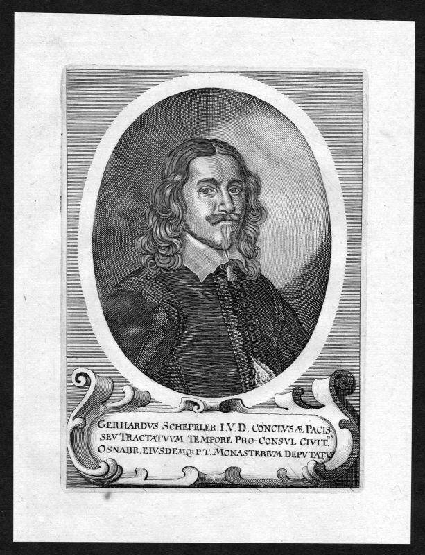 17. Jh. Gerhard Schepeler Osnabrück Portrait Kupferstich antique print 0