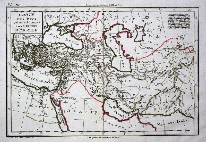 1800 Syria Syrien Egypt Ägypten Arabia Arabien Afrika Africa Karte map Mentelle