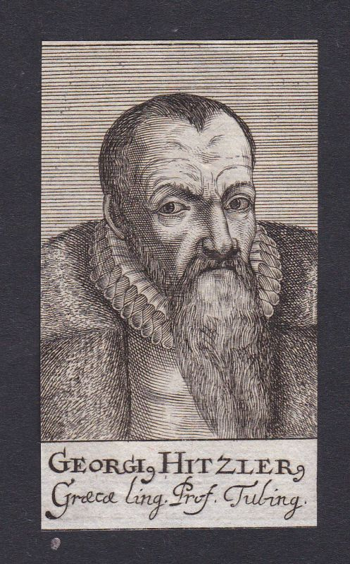 17. Jh. Georg Hitzler / professor Professor Tübingen Portrait Kupferstich