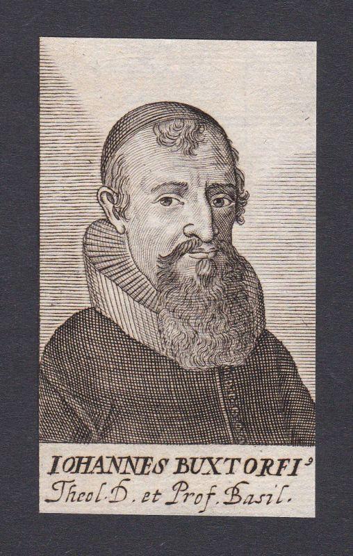 17. Jh. Johann Buxtorf theologian Theologe Professor Basel Portrait Kupferstich