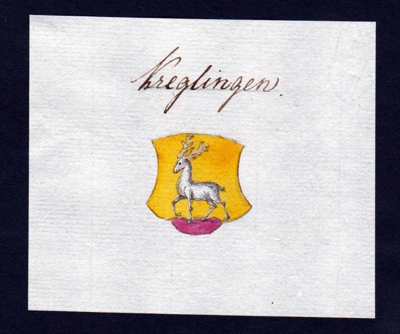 18. Jh. Creglingen Handschrift Manuskript Wappen manuscript coat of arms