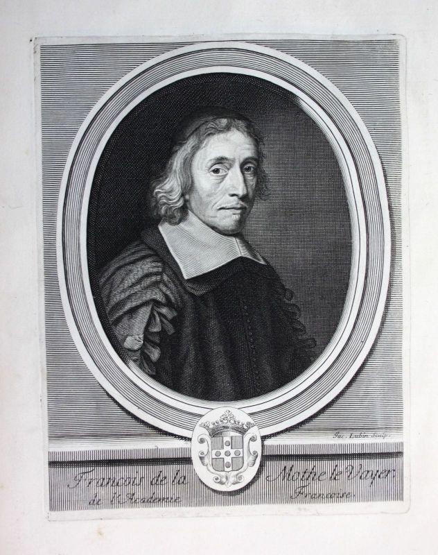 Ca. 1700 Francois de La Mothe le Vayer philosophe Portrait Kupferstich engraving