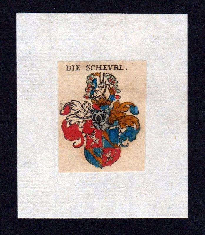 17. Jh Scheurl Wappen coat of arms heraldry Heraldik Kupferstich