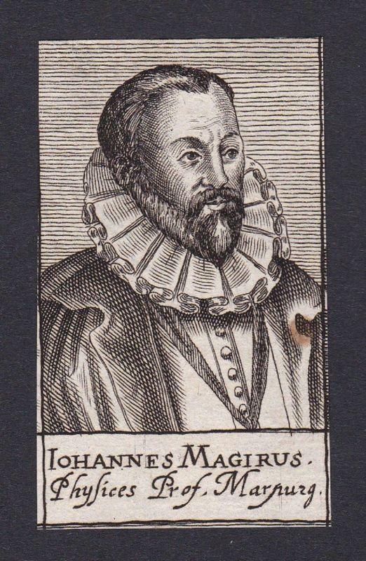 17. Jh. Johannes Magirus / theologian Theologe Marburg  Portrait Kupferstich