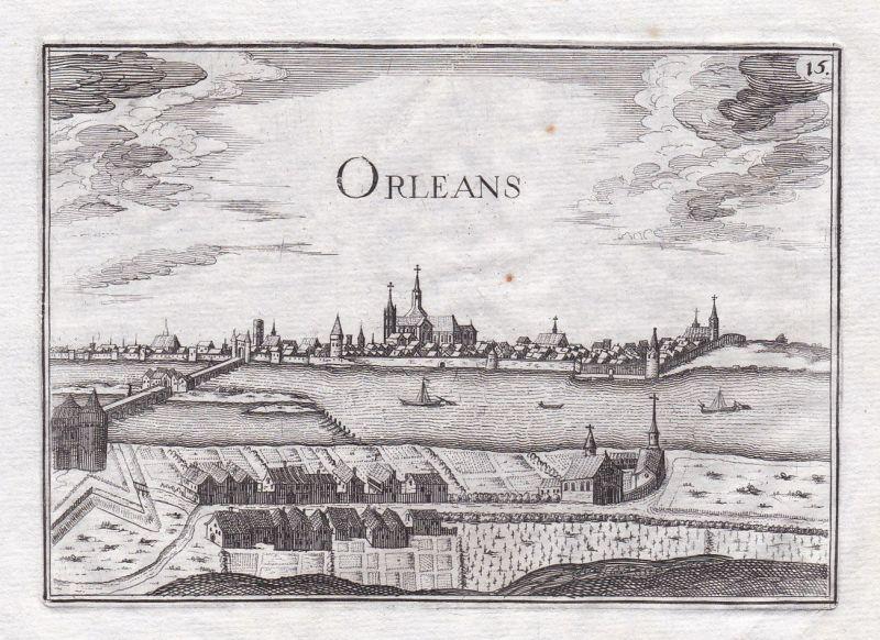 1630 Orleans Centre-Val de Loire France gravure estampe Kupferstich Tassin