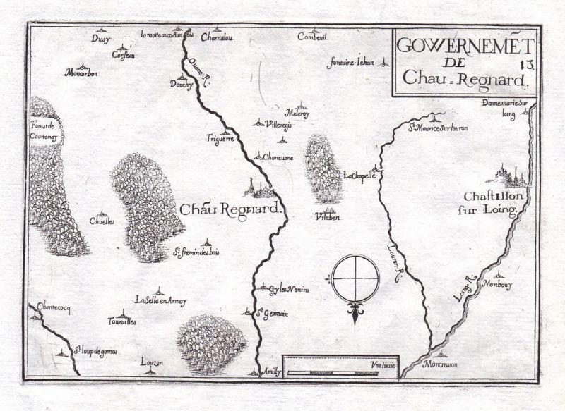 1630 Châteaurenard Provence-Alpes-Côte d'Azur France gravure estampe Tassin