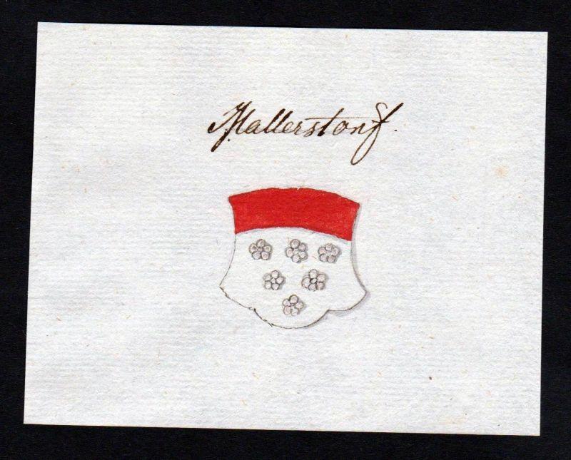 18. Jh. Mallerstorf Mallersdorf Manuskript Wappen manuscript coat of arms 0