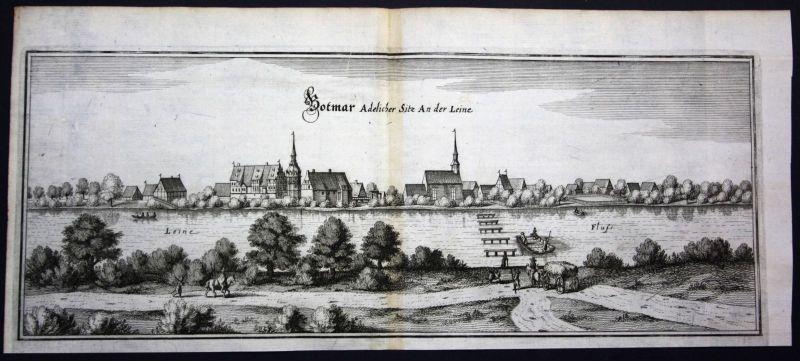 Bothmer / Schwarmstedt / Heidekreis - Kupferstich Merian Merian: