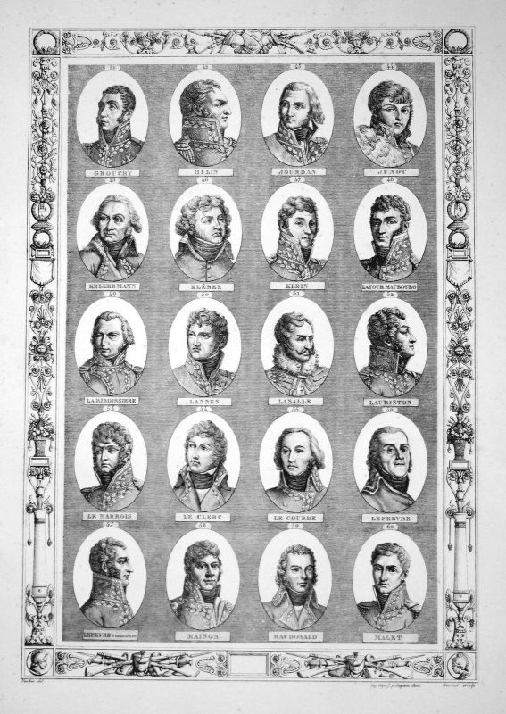 Napoleon Bonaparte Generäle generals Herrführer commander Portraits portrait G-M 0