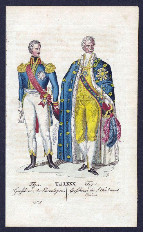 Ordre national de la Legion d'honneur Ritterorden Orden antique print gravure