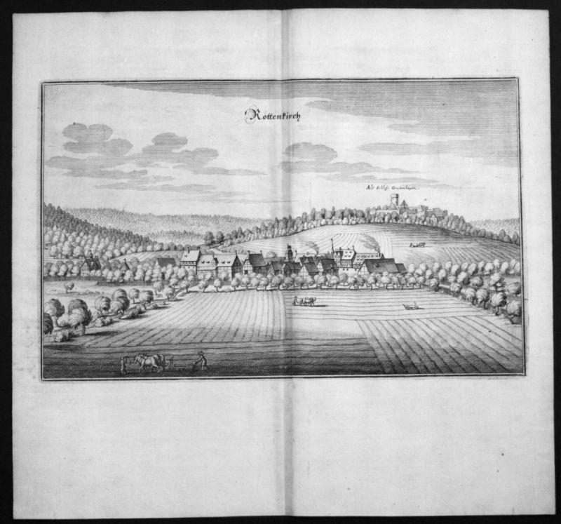 Rotenkirchen / Einbeck - Gesamtansicht - Kupferstich Merian Merian: