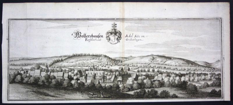 Wollershausen / LK Göttingen - Kupferstich Merian Merian: