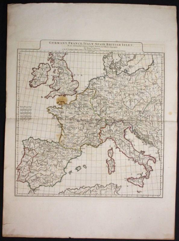 1771 Europe Europa continent Kontinent Karte map Kupferstich