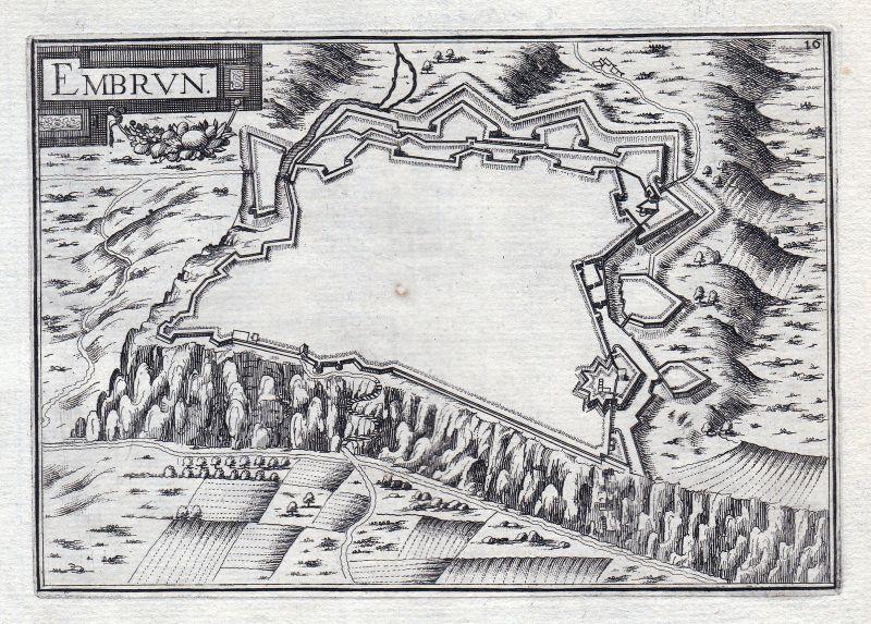 Embrun Provence-Alpes-Côte d'Azur Hautes-Alpes France gravure estampe Tas 146332