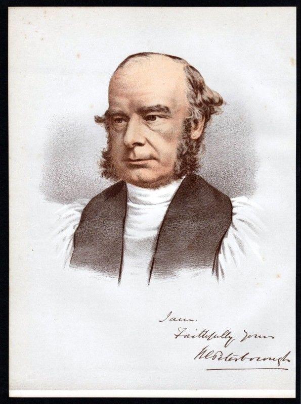 William Magee (1821-1891) Bischof - Lithographie Portrait