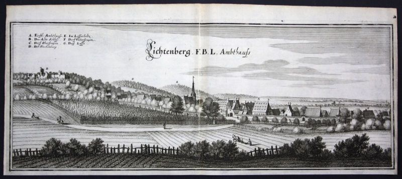 Lichtenberg / Salzgitter - Kupferstich Merian Merian: