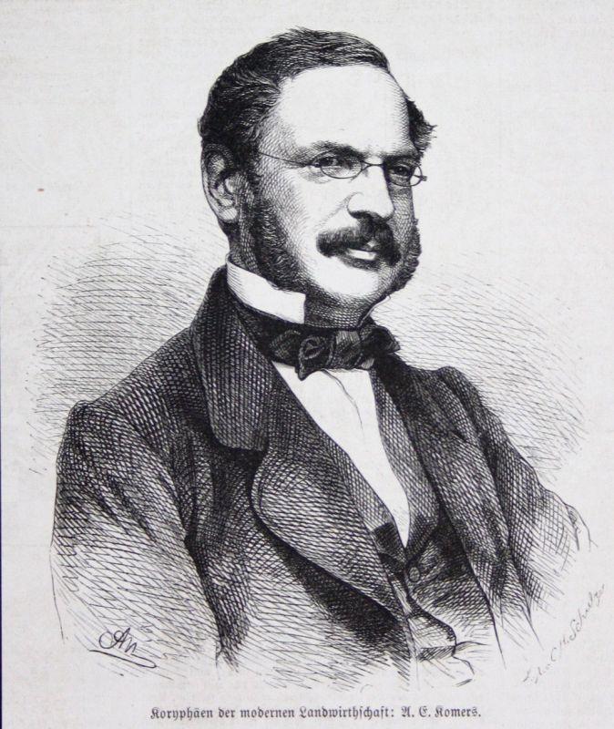 Anton Emanuel Komers Koryphäen Koryphäe Agrarfachmann Landwirtschaft Portrait