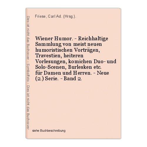 Wiener Humor. - Reichhaltige Sammlung von meist neuen humoristischen Vortr 39935