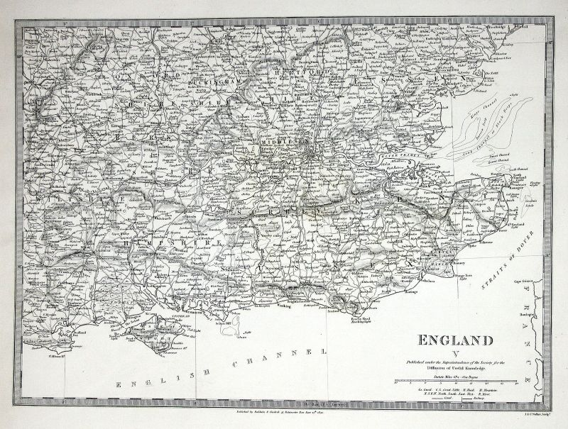 1830 England Great Britain Kontinent continent Hampshire Oxford SDUK Karte map