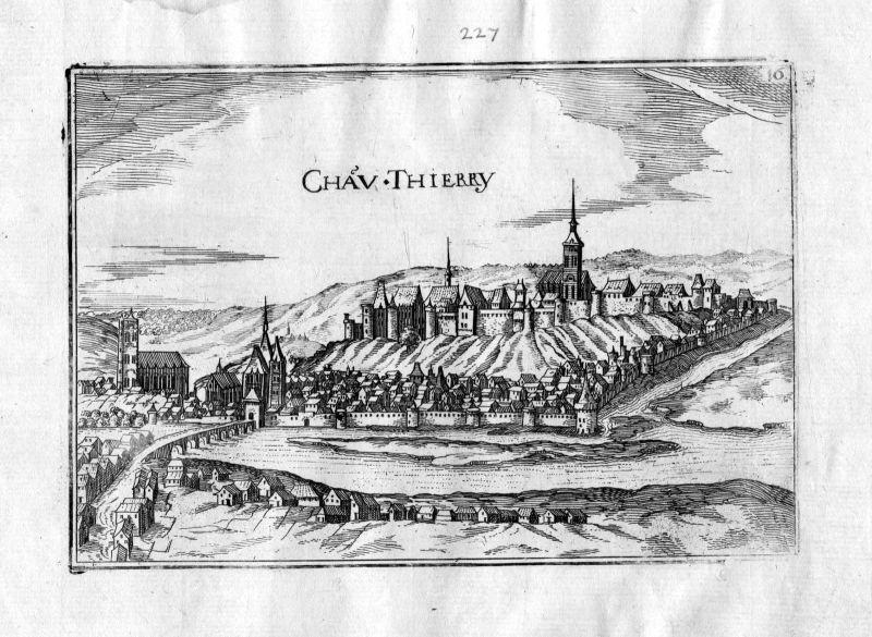 1633 Chateau Thierry Picardie Tassin gravure estampe Kupferstich engraving