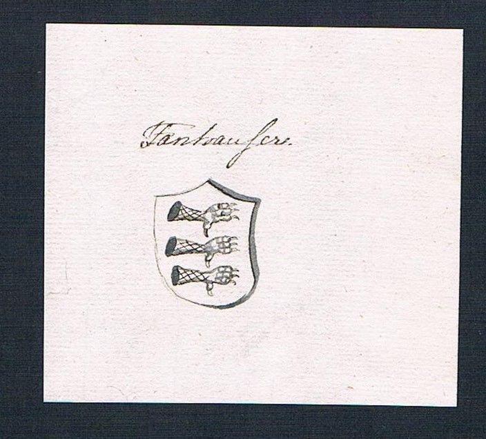 18. Jh. Thannhausen Handschrift Manuskript Wappen manuscript coat of arms