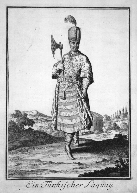 1703 Turkey Türkei Trachten costumes Kupferstich antique print Sancta Clara