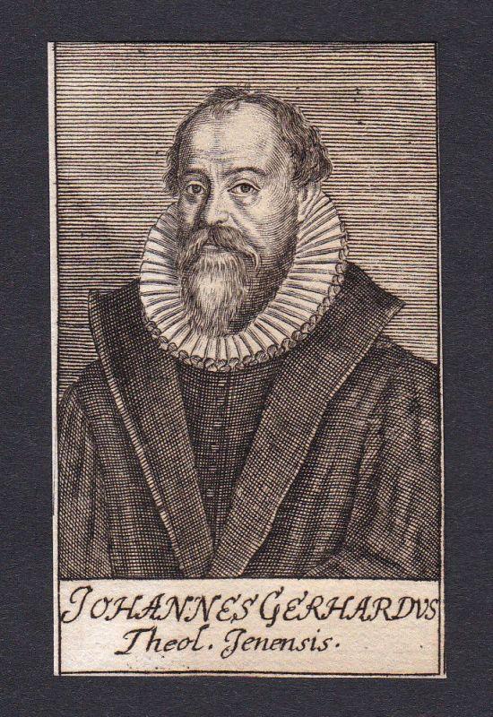 Johann Gerhard / theologian Theologe Jena Portrait Kupferstich