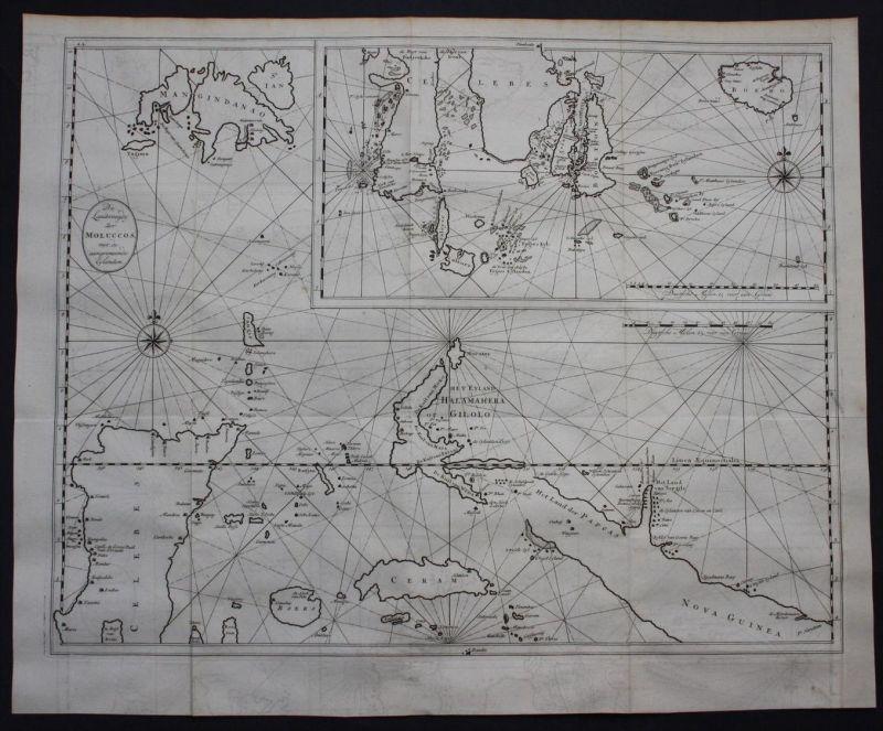 Maluku islands Moluccas New Guinea Sulawesi Indonesia map Asia Valentijn
