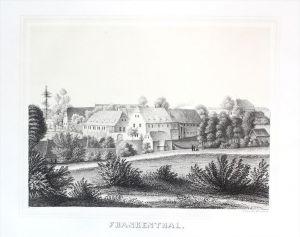 Frankenthal bei Großharthau Oberlausitz Sachsen Lithographie Poenicke