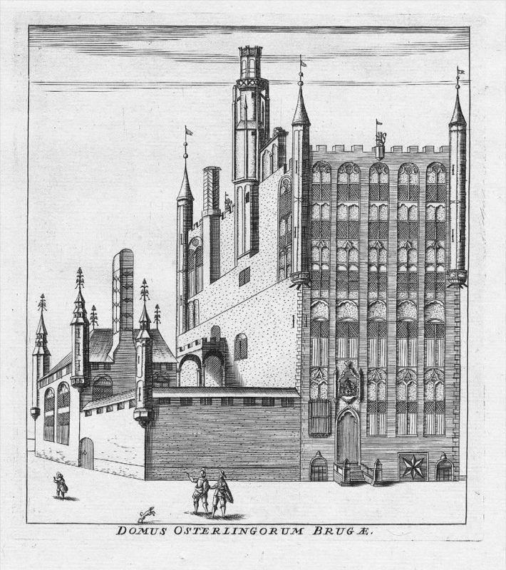 Brugge Bruges Flanders Kupferstich gravure engraving map