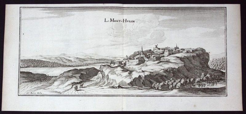 Mont Hulin Desvres Pas-de-Calais gravure estampe Kupferstich Merian