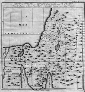 Israel Egypt Gaza Ägypten Karte map engraving Kupferstich