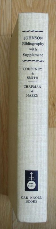- Courtney - A Bibliography with Supplement Samuel Johnson Chapman
