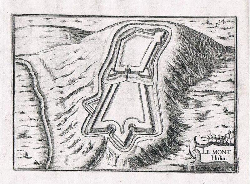 Mont Hulin Nord-Pas-de-Calais Desvres France gravure Kupferstich Tassin