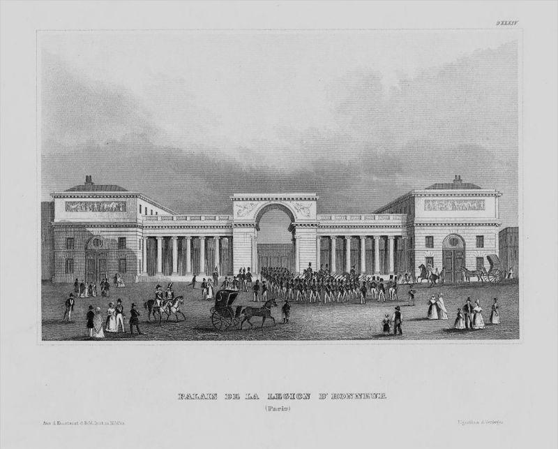 Palais Legion Honneur Paris Militär France Frankreich gravure Stahlstich