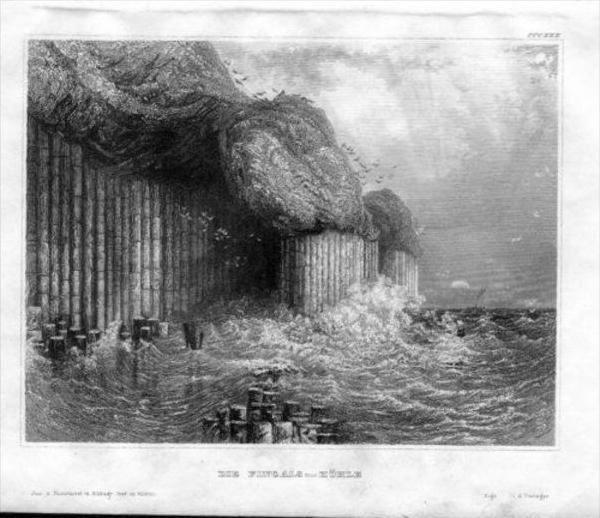 Fingal-Cave Staffa Scotland Original Stahlstich