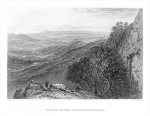 Valley of Goulburn Victoria Australia Australien steel engraving Stahlstich