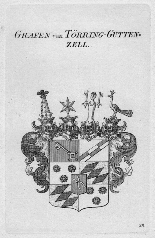 Törring Guttenzell Wappen Adel coat of arms heraldry Heraldik Kupferstich