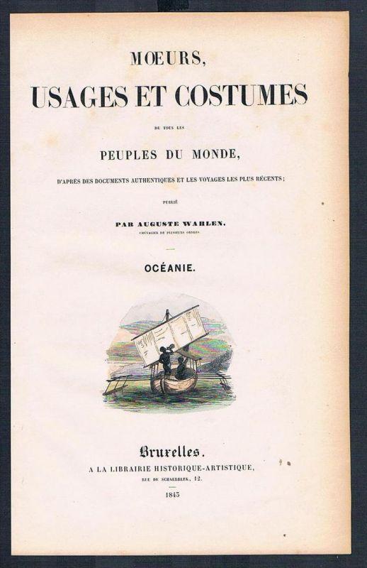 Titel title Moeurs usages et costumes costumes Trachten antique print