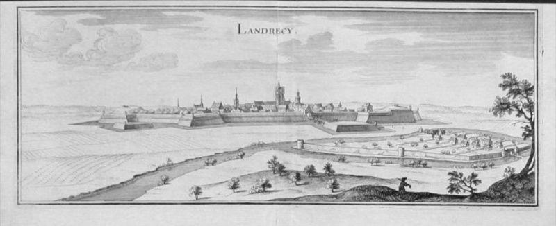 Landrecies gravure Merian Kupferstich engraving
