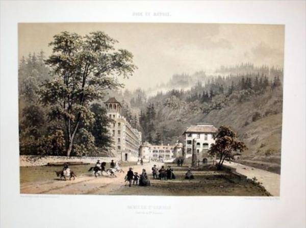 Saint-Gervais-les-Bains Haute-Savoie Lithographie