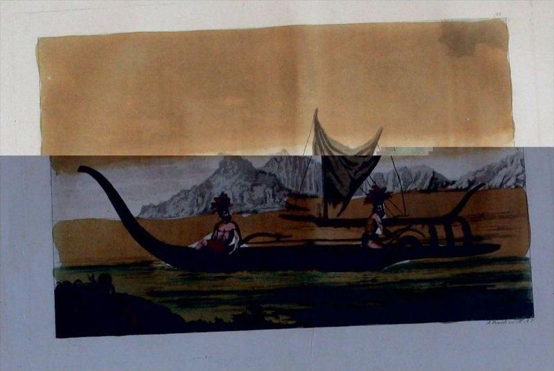 Marquesas French Polynesia Oceania Aquatinta aquatint antique print