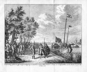 Welna Amstel Amsterdam Wilhelm Friedrich v. Nassau Original Kupferstich