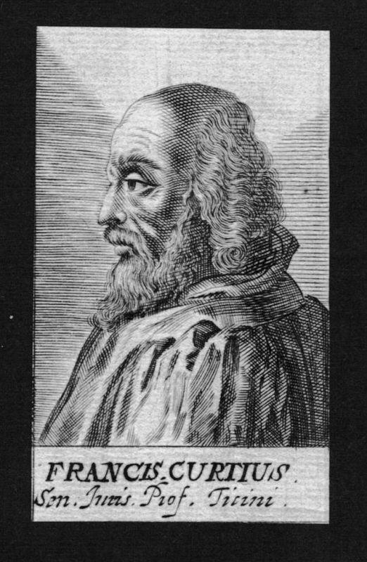Franciscus Curtius Jurist lawyer Italien Italy Kupferstich Portrait