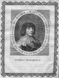 Karl I. Ludwig v. d. Pfalz Pfalzgraf Portrait Kupferstich engraving